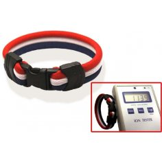 Ionen Power Armband rot/weiß/blau Small