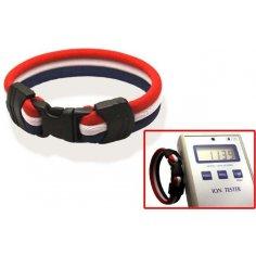 Ionen Power Armband rot/weiß/blau Medium