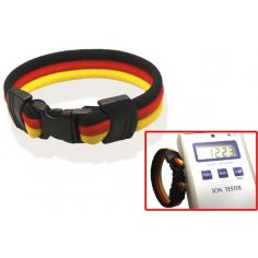 Ionen Power Armband schwarz/rot/gelb Small