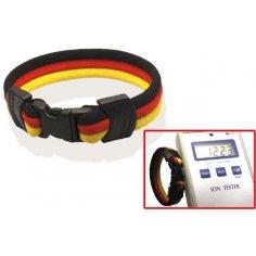 Ionen Power Armband schwarz/rot/gelb Small