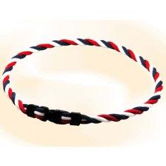 Ionen Power Halskette blau/weiß/rot/blau Medium