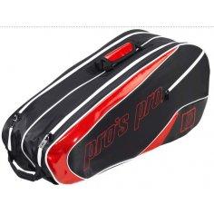Pros Pro 8-Racketbag schwarz-rot