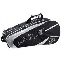 pros pro 12-Racketbag schwarz/silber