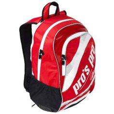 pros pro Tennisrucksack rot/weiß