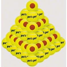 ***Beach Tennis Ball 60er gelb mit orangen Punkt