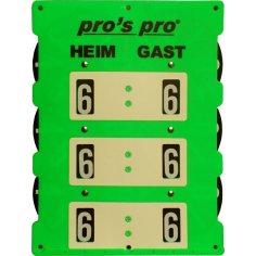 Spielstandanzeiger Tennis INDOOR neon-grün