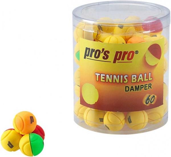 *Pro's Pro Vibrationsdämpfer Tennis Ball Damper 60er gelb