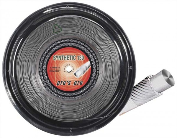 Pro's Pro Tennissaite 200 m multifil Synthetic 130 silber