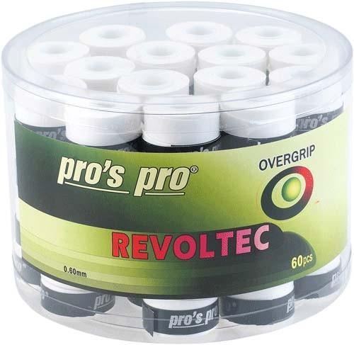 Pro's Pro Overgrips 60er Box Revoltec Grip 0,60 mm weiss klebrig