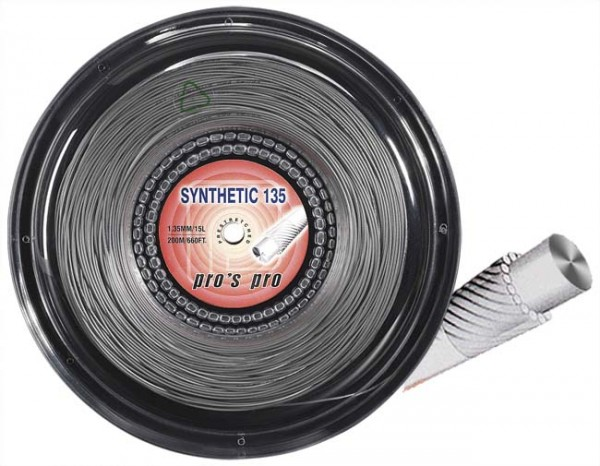 Pro's Pro Tennissaite 200 m multifil Synthetic 135 silber