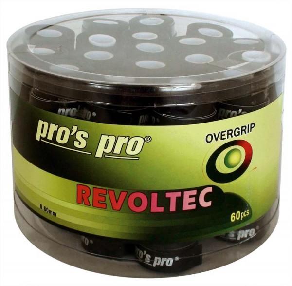 Pro's Pro Overgrips 60er Box Revoltec Grip 0,60 mm schwarz klebrig