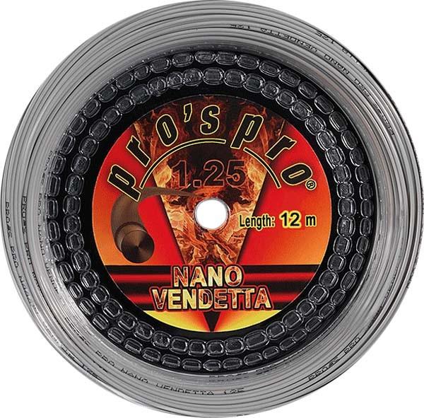 Pro's Pro Tennissaite 12 m Polyester Nano Vendetta 1,25 mm silber