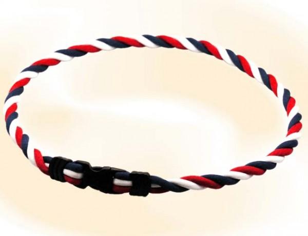 Pro's Pro Ionen Power Halskette rot/weiß/blau Medium