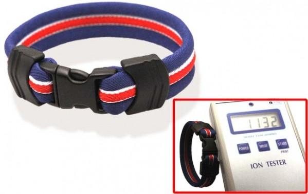 Pro's Pro Ionen Power Armband blau/weiß/rot/blau Medium