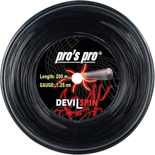 Pro's Pro Deutsche Polyestersaite Devil Spin 200 m 1,26 mm schwarz verdreht
