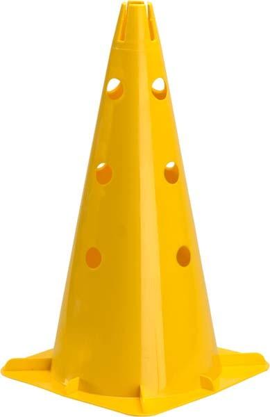 """Pro's Pro Markierungskegel 18"""" (46 cm) gelocht,  gelb"""