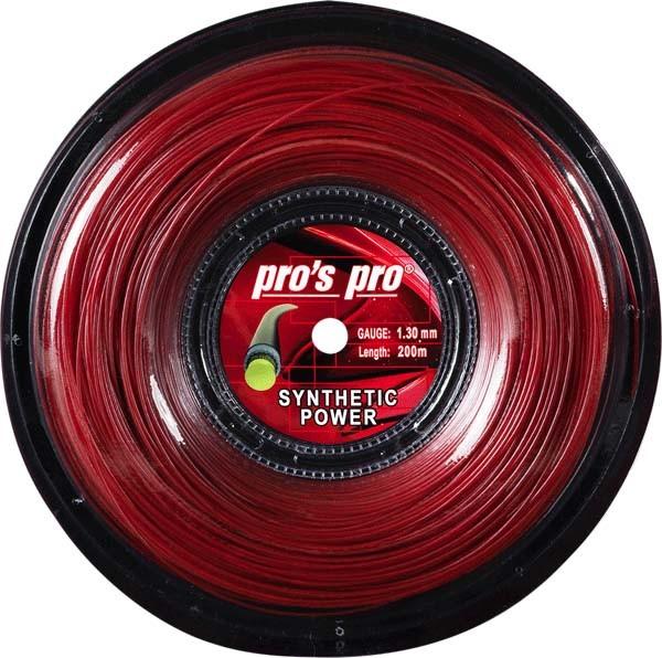 Pro's Pro Tennissaite 200 m mulitfil Synthetic Power 1,30 mm rot