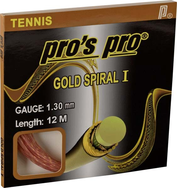 Pro's Pro Tennissaite 12 m Synthetik Gold Spiral I rose-gold 1,30 mm