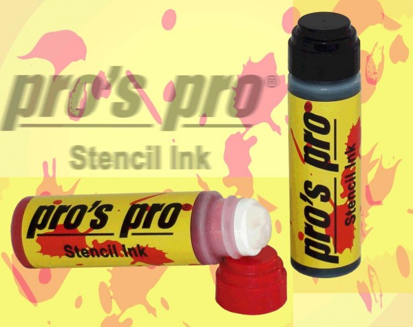 Pro's Pro Stencil Ink schwarz Logostift