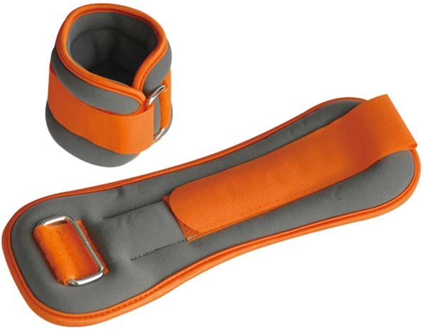 Pro's Pro Gewichtsmanschetten 2 x 2 kg grau/orange