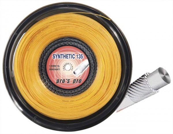 Pro's Pro Tennissaite 200 m multifil Synthetic 135 gold
