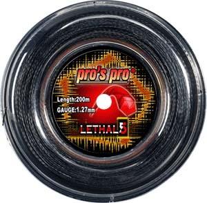 Pro's Pro 200-m-Tennissaite Lethal 5 schwarz 1,27 mm Deutsche Polyestersaite profiliert