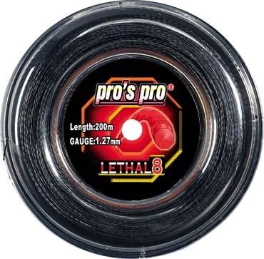 Pros Pro Deutsche Polyester Tennissaite Lethal 8 schwarz 1.27 200 Meter
