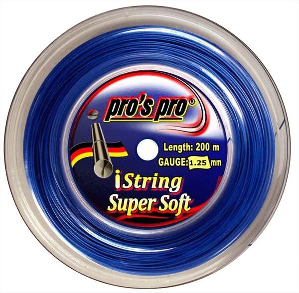 Pro's Pro 200 m Tennissaite iString Super Soft 1,25 mm signalblau Deutsche Polyestersaite armschonend