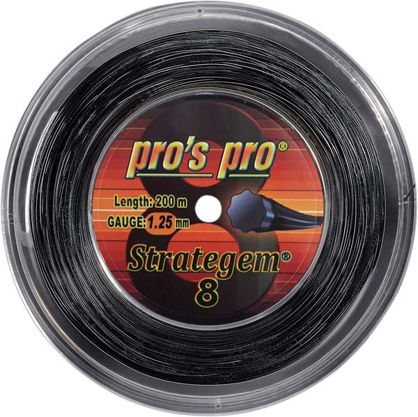 Pro's Pro Deutsche Polyestersaite Strategem 8 200 m 1,25 mm schwarz 8-eckig
