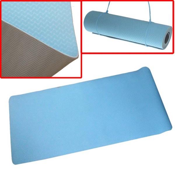 Pro's Pro Yoga-Matte aus TPE, rutschfest, einrollbar, 6 mm