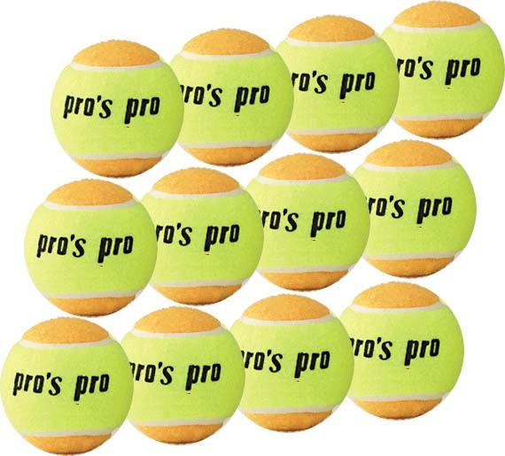 Pro's Pro Beach Tennis Ball 12er gelb / orange