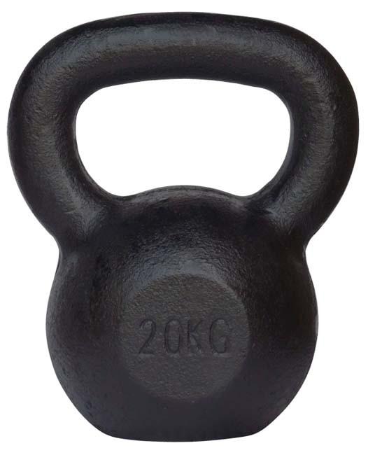 Pro's Pro Kettlebell Gusseisen 20 kg schwarz