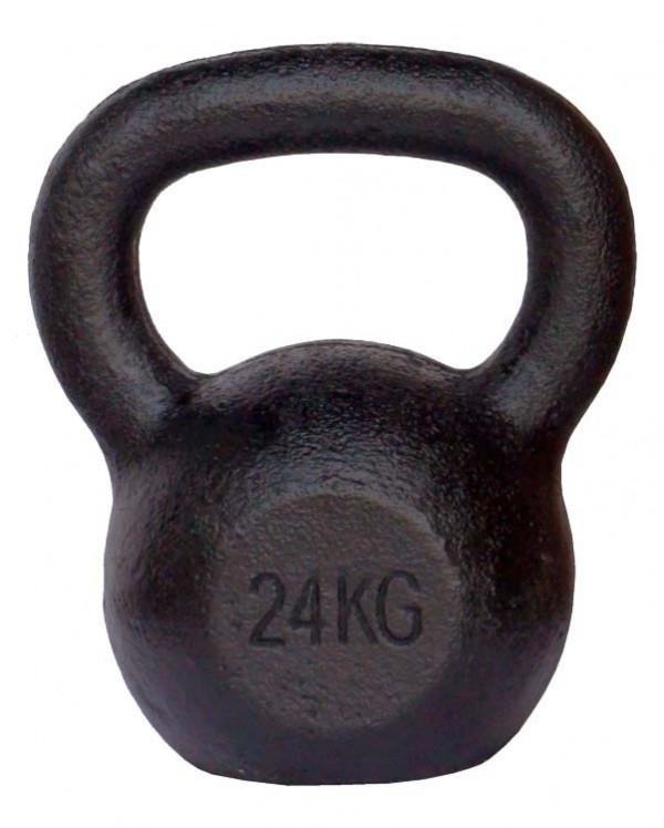 Pro's Pro Kettlebell Gusseisen 24 kg schwarz