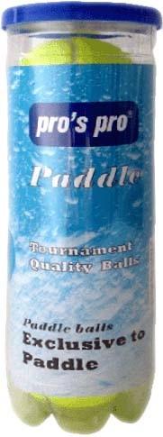 Pro's Pro PADDLE Tennisbälle 3er mit Innendruck