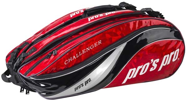 Pro's Pro 12-Racketbag Challenger rot