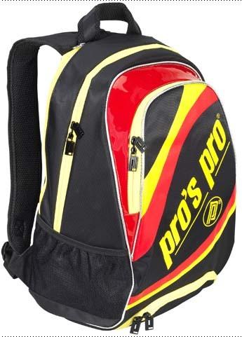 Pro's Pro Tennisrucksack Tristar schwarz-gelb-rot