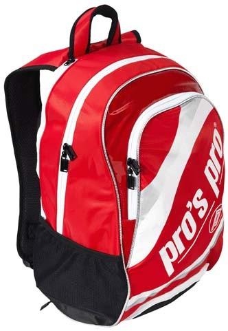 Pro's Pro Tennisrucksack rot/weiß