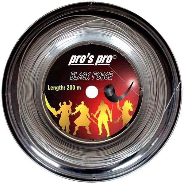 Pro's Pro 200-m-Tennissaite Black Force 1,25 mm silber Deutsche Polyestersaite