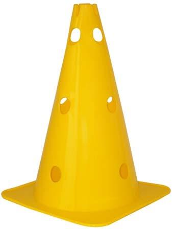 """Pro's Pro Premium Kegel 15"""" mit Löchern und Vertiefung, gelb"""