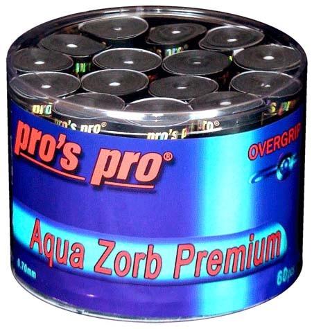 Pro's Pro Overgrips 60er Aqua Zorb Premium 0,70 mm schwarz trocken