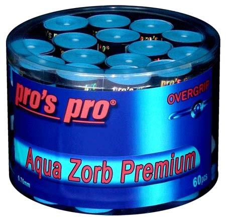 Pro's Pro Overgrips 60er Aqua Zorb Premium 0,70 mm blau trocken