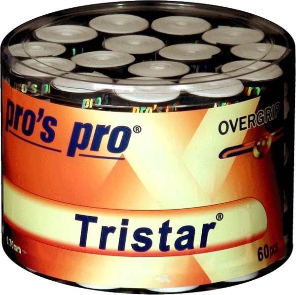 Pro's Pro Overgrips 60er Box Tristar 0,70 mm weiss klebrig