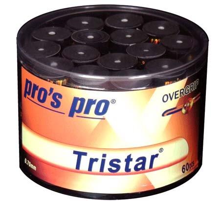 Pro's Pro Overgrips 60er Box Tristar 0,70 mm schwarz klebrig