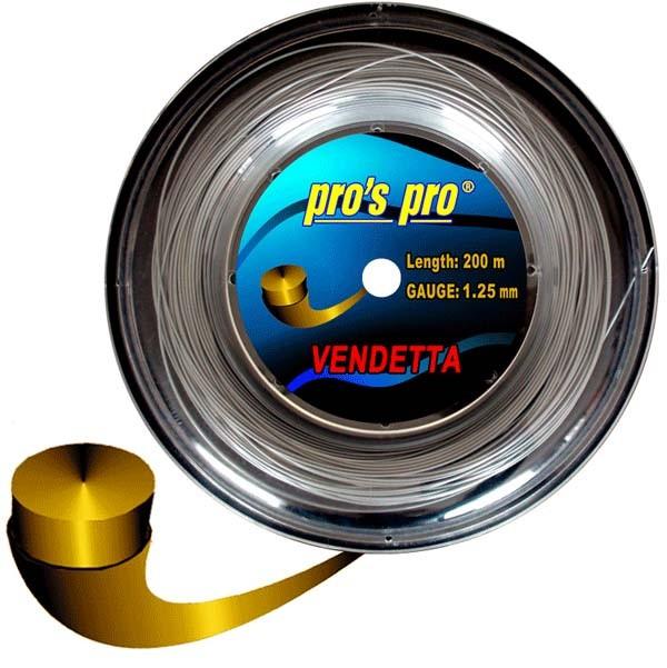 Pro's Pro 200-m-Tennissaite Vendetta 1,25 silber Deutsche Polystersaite armschonend