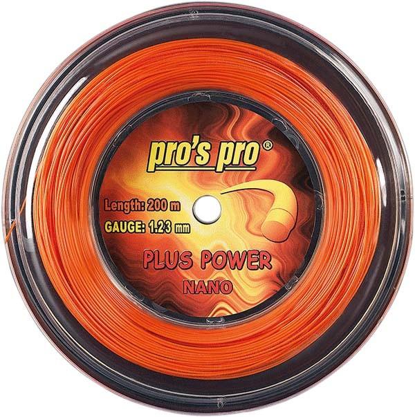 Pro's Pro 200-m-Tennissaite Plus Power 1,33 mm orange Deutsche Polyestersaite