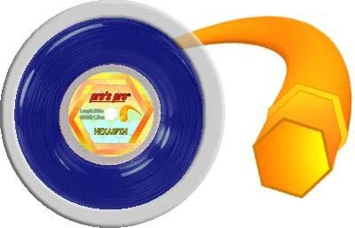 Pro's Pro Deutsche Polyestersaite Hexaspin 200 m 1,30 mm blau 6-eckig