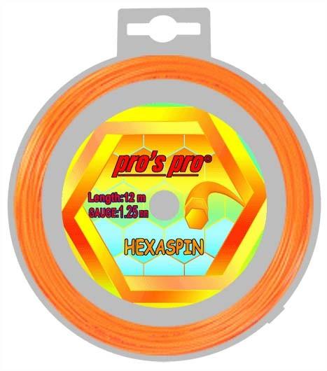 Pro's Pro Deutsche Polyestersaite Hexaspin 12 m 1,25 mm orange 6-eckig