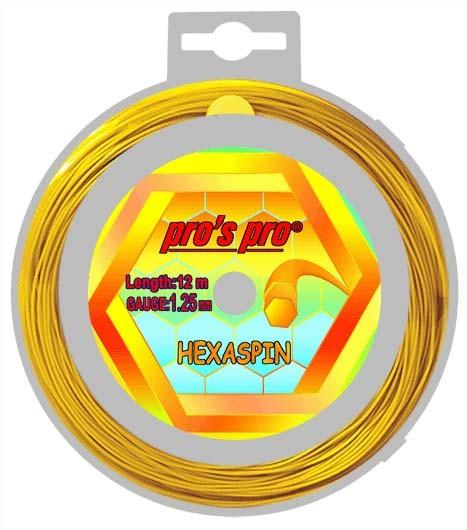 Pro's Pro Deutsche Polyestersaite Hexaspin 12 m 1,25 mm gold 6-eckig