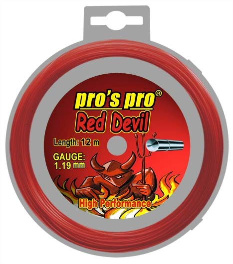 Pro's Pro Deutsche Polyestersaite 12 m Red Devil 1,19 mm rot