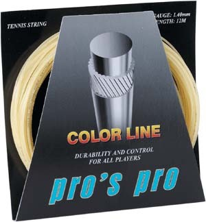 Pro's Pro Tennissaite 12 m Synthetik Color Line 1,40 mm natur